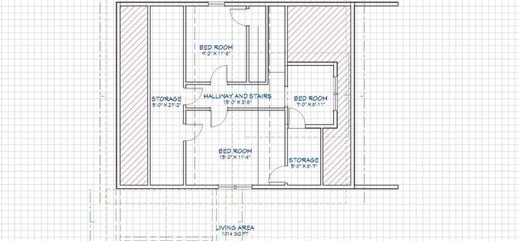 floor plan layout in 2D