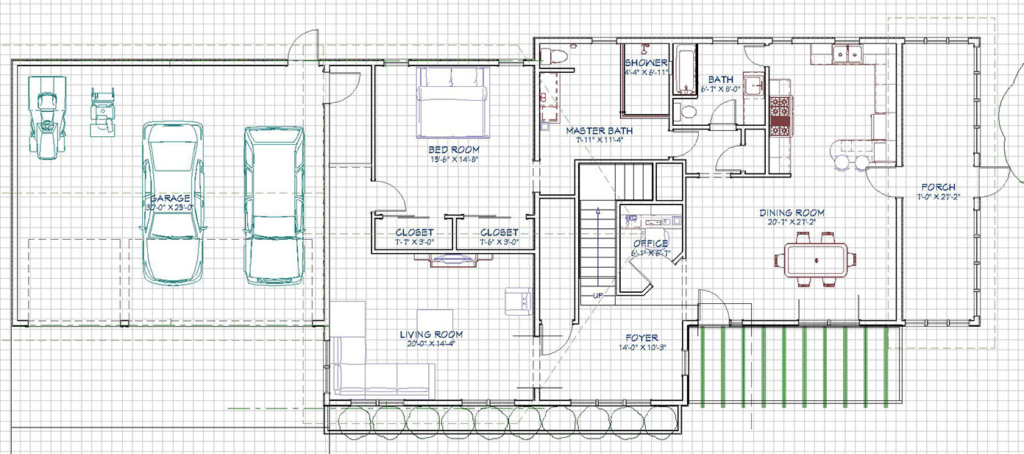 2d floor plan view of main floor