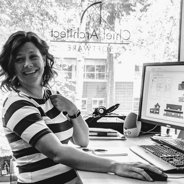 Portrait of Adrean Stephenson, Content Manager. Pictured in striped shirt.