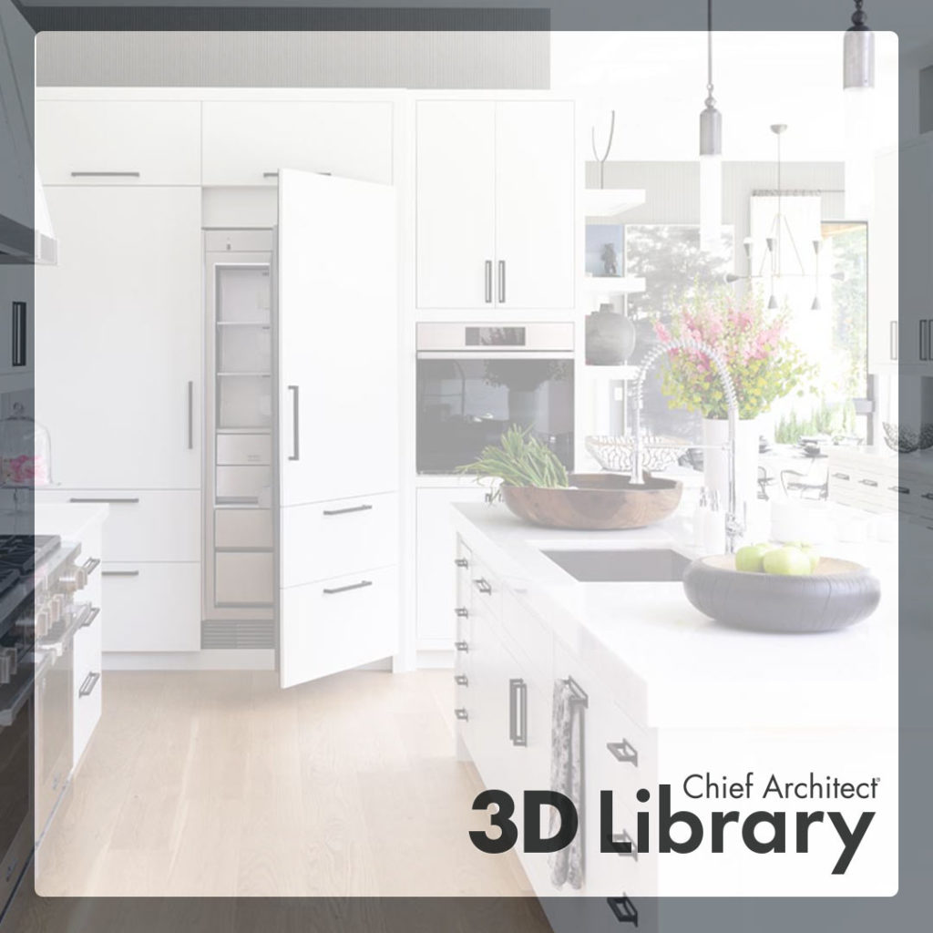Kitchen rendering for the Chief Architect 3D Library