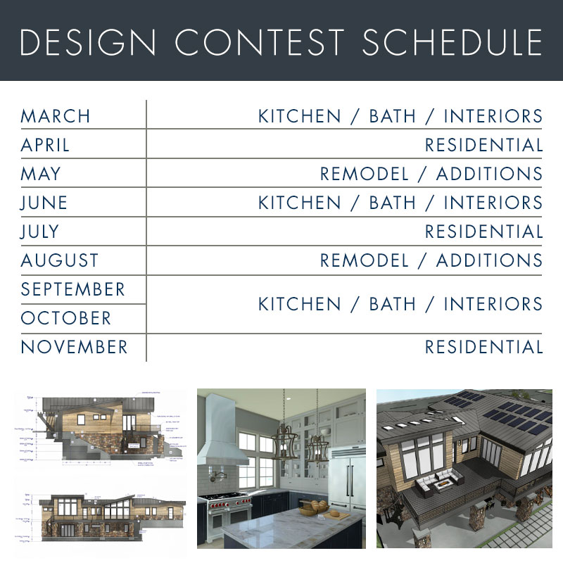 Chief Architect Design Contest Schedule for 2020.