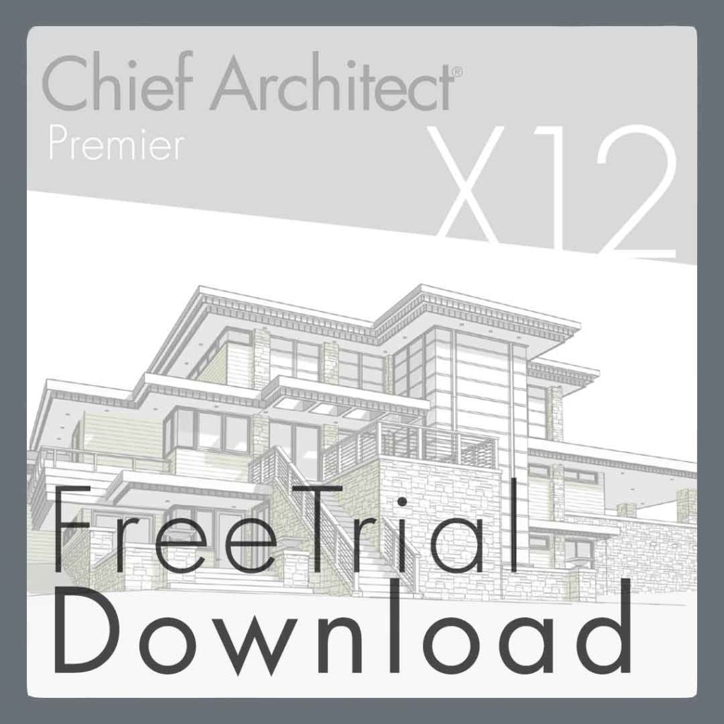 Free trial download button for Chief Architect software.
