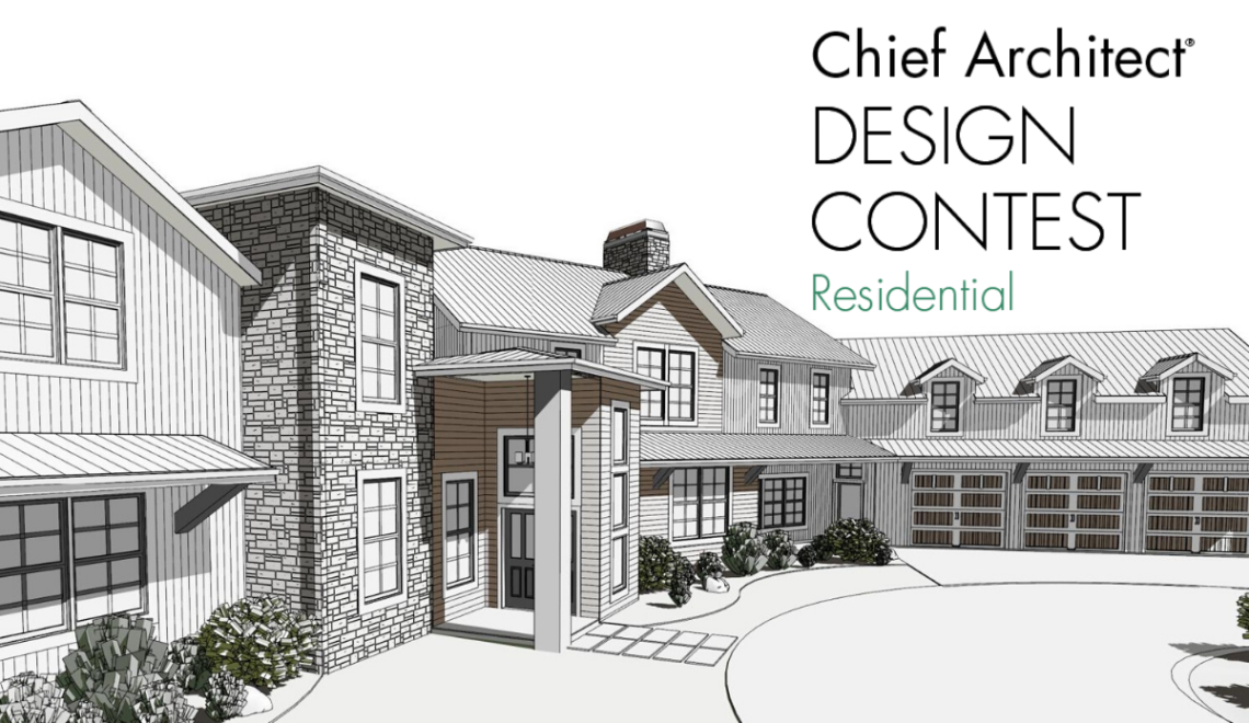 Chief Architect Design Contest with a technical illustration of a home design.