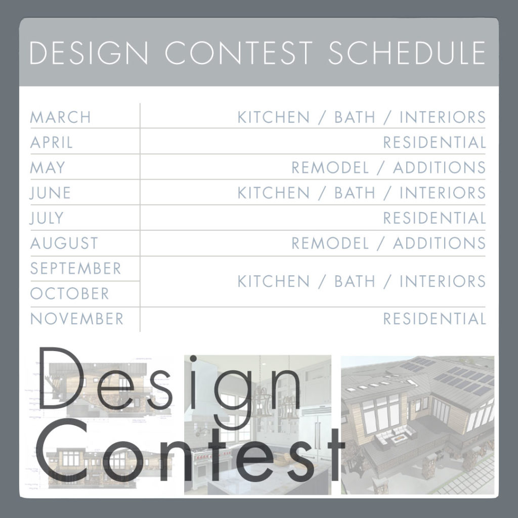 Design Contest Schedule in table format with previous designs below