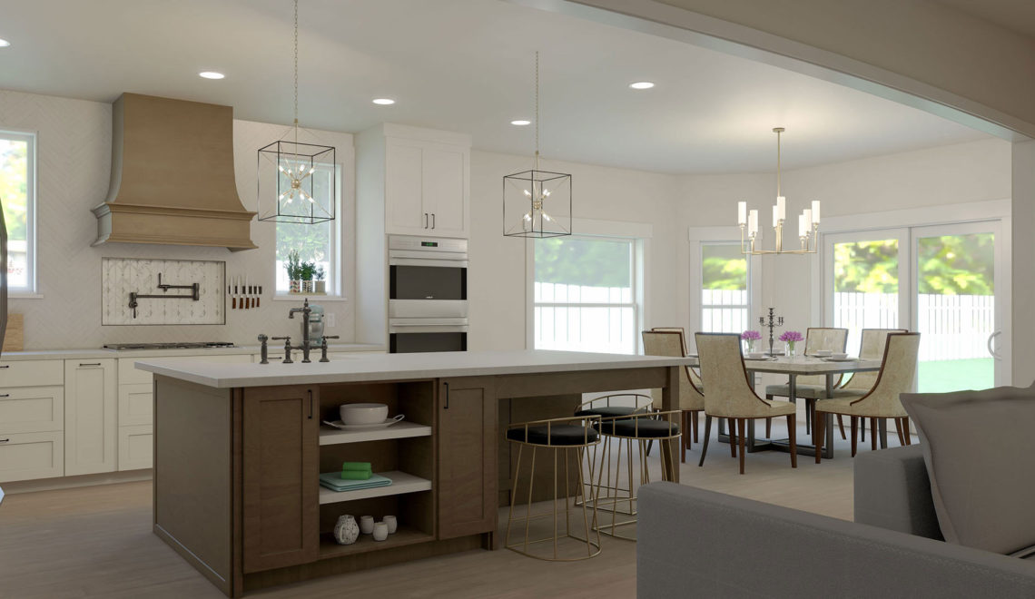 For us, there is nothing quite like a beautiful kitchen adorned with big windows and a walk-in pantry.