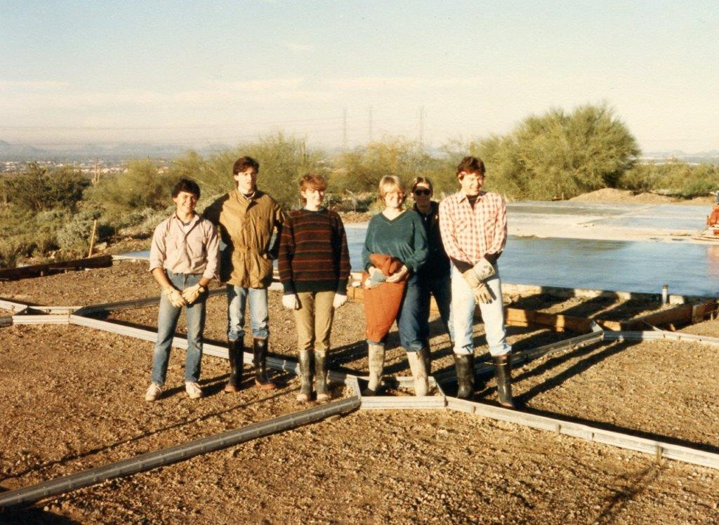 Michael Rust Pouring slab for Taliesin West Archive building