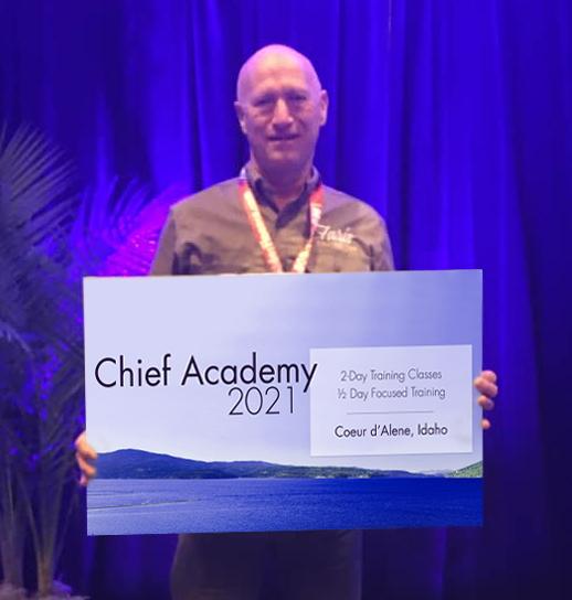 Brian Farris, winner of the 2021 Chief Academy raffle.