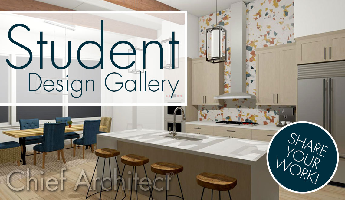 Chief Architect Student Design Gallery graphic.