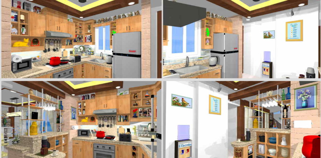 Kitchen design in the Philippines with ample storage.