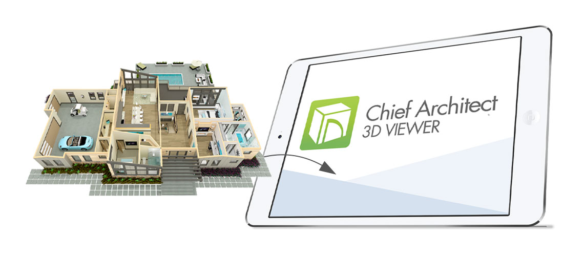 3 Steps to upload plan to 3d Viewer, 3D plan pointing to Ipad
