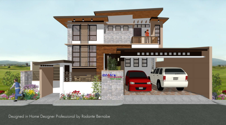 Asian-style home design in the Philippines.