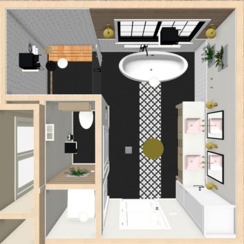 Birds Eye View of Winning Bathroom Design