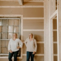 Kendra and Kerra at a construction site