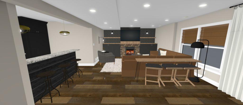 Basement living design